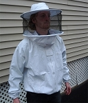 Hive Maintenance Jacket with Round Hooded Veil