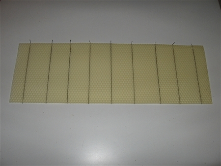 Crimped Wire 100 Beeswax Foundation 5 5 8 Quot Crimp Wire