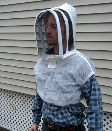 Fencing Style Beekeeping Veil With Shoulder Vest