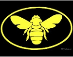 Vinyl Bee Decal (Bee)