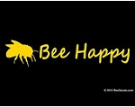 Vinyl Bee Decal (Bee Happy)