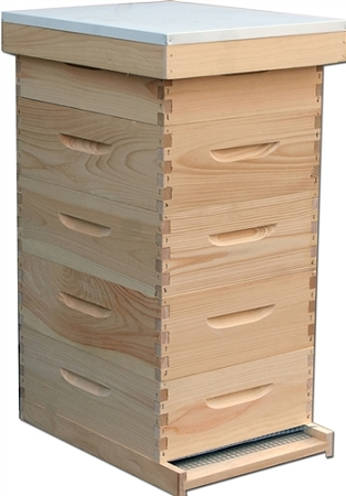 Complete Langstroth Bee Hive With Medium Boxes