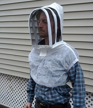 Fencing Style Veil with Shoulder Vest