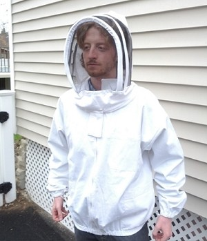 Hive Maintenance Jacket with Fencing Style Veil